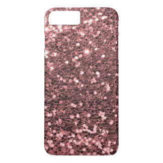 Rose Gold Faux Glitter Sparkle Shine Print iPhone 8 Plus/7 Plus Case