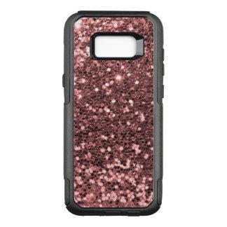 Rose Gold Faux Glitter Sparkle Shine Print OtterBox Commuter Samsung Galaxy S8+ Case