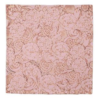 Rose Gold Floral Duvet Cover