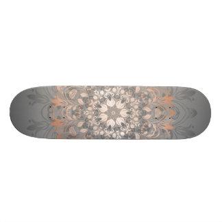 Rose Gold Floral Mandala Skateboards