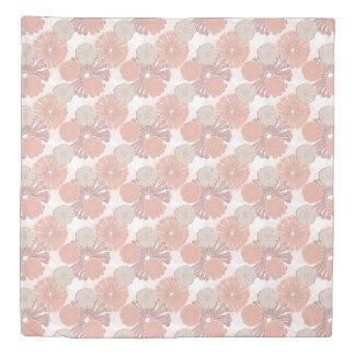 Rose Gold Flower Pattern Duvet Cover