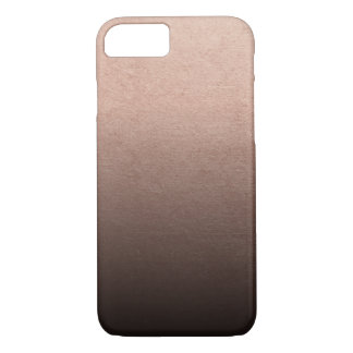 Rose Gold Foil Black Ombre Background Case-Mate iPhone Case