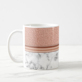 Rose Gold Foil on Marble Coffee Mug