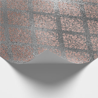 Rose Gold Foxier Silver Gray Shiny Glass Metallic