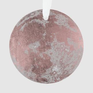 Rose Gold Full Moon Christmas Ornament