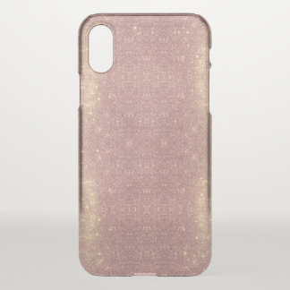 Rose Gold Galaxy Faux Space Sparkle iPhone X Case
