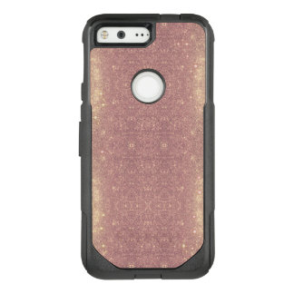Rose Gold Galaxy Faux Space Sparkle OtterBox Commuter Google Pixel Case