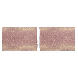 Rose Gold Galaxy Faux Space Sparkle Pillowcase