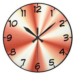 Rose Gold Gathered Satin Look Large Clock
