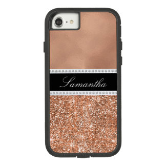 Rose Gold Glam Sparkle Personalized iPhone case