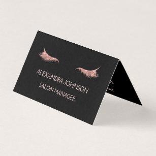 rose gold glitter and sparkle eyelash extension business card - Eyelash Extension Business Cards