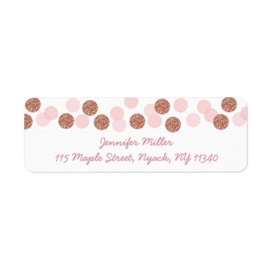 Rose Gold Glitter Baby Shower Address Return Address Label