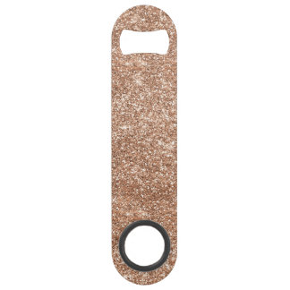 Rose Gold Glitter Bar Key