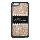 Rose Gold Glitter Black Otterbox iPhone 6/6s Case