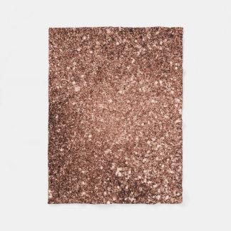 Rose Gold Glitter Blanket