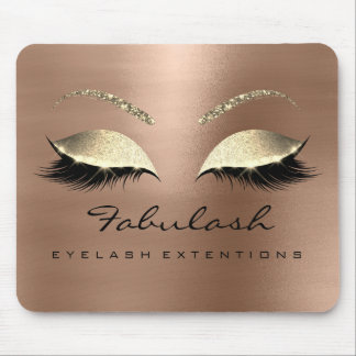 Rose Gold Glitter Branding Beauty Lashes Skin Vip Mouse Pad