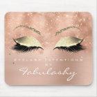 Rose Gold Glitter Branding Beauty Studio Lashes Mouse Pad