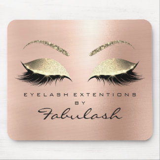 Rose Gold Glitter Branding Beauty Studio Lashes Mouse Pad