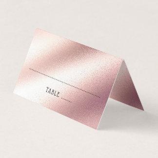 Rose Gold Glitter Elegant Soft Pink Wedding Place Card