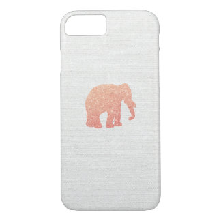 Rose Gold Glitter Elephant iPhone 7 Case