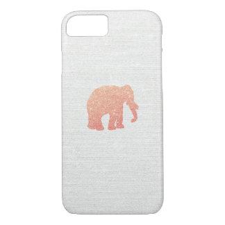 Rose Gold Glitter Elephant iPhone 8/7 Case