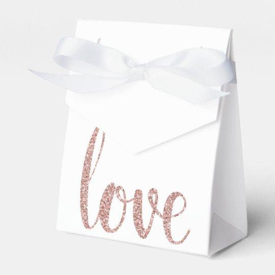 Rose gold glitter favour boxes favor boxes