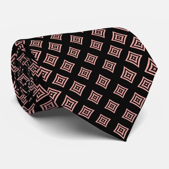 Rose Gold Glitter Geometric Shapes Tie
