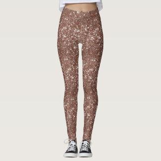 Rose Gold Glitter Leggings