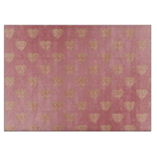 rose gold glitter love hearts polka dots pattern boards
