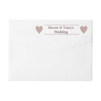 Rose Gold Glitter Modern Wedding Wraparound Label