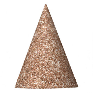 Rose Gold Glitter Party Hat
