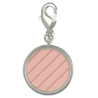 rose gold glitter pastel peach stripes pattern charm