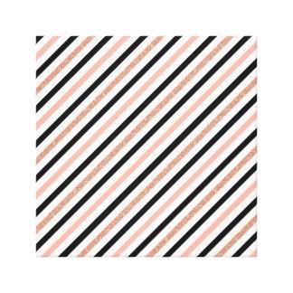rose gold glitter pastel pink stripes pattern canvas print