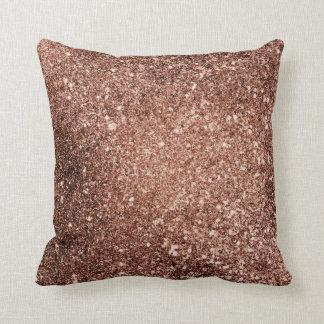Rose Gold Glitter Pillow