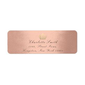 Rose Gold Glitter RSVP Crown Princess Bridal Blush