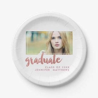 Rose Gold Graduate | Graduation Paper Plate