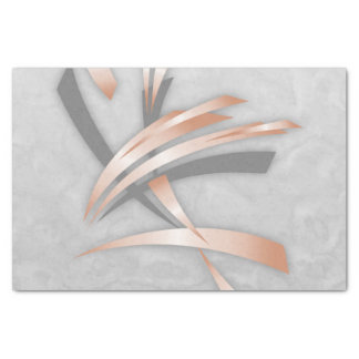 Rose Gold Gray Marble Abstract Art Tissue Paper