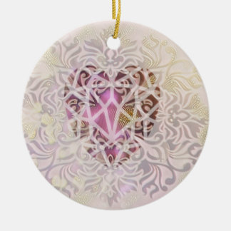Rose Gold Heart Christmas Ornament