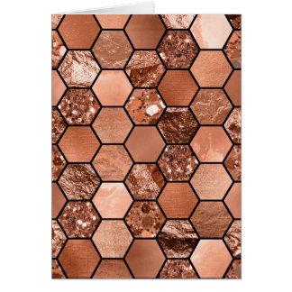 Rose gold hexaglam card