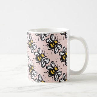 Rose Gold Humble Bumblebee Mug