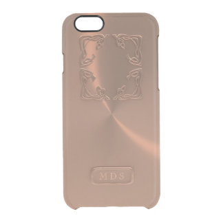 Rose Gold iPhone 6/6s Case Faux 3D Monogram