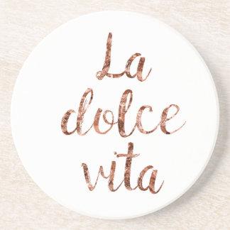 Rose gold La Dolce Vita Coaster