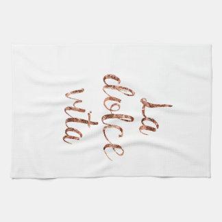 Rose gold La Dolce Vita Kitchen Towel