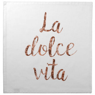 Rose gold La Dolce Vita Printed Napkins