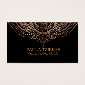 Rose-Gold Lace Geometric mandala Business Card