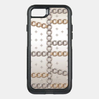 Rose Gold Link Chain Flower Diamond OtterBox Commuter iPhone 8/7 Case