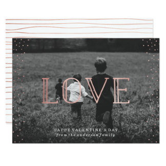 Rose Gold Love | Valentine's Day Photo Card
