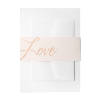 Rose Gold Love Wedding Invitation Belly Band