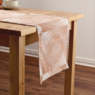 Rose Gold Mandala Geometric Long Table Runner