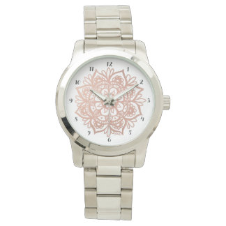 Rose Gold Mandala Watch